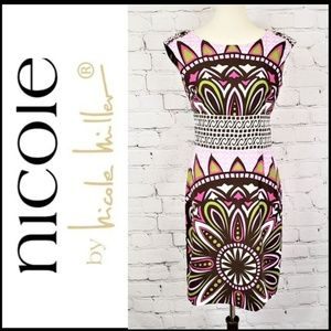 NICOLE by NICOLE MILLER Vibrant Pink-Green Sleevel
